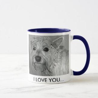 Tasse mignonne de chien de Westie