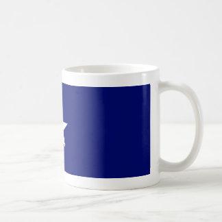 Tasse mignonne de drapeau bleu