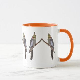 Tasse mignonne de duo de Cockatiel