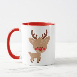 Tasse mignonne de renne de Noël