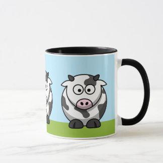 Tasse mignonne de vaches