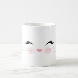 Tasse mignonne de visage de chat