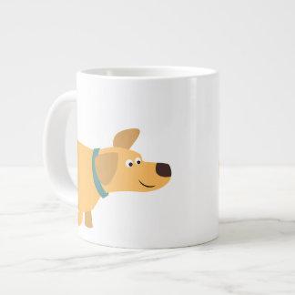 Tasse mignonne d'éléphant de Labrador de jaune de Mug Jumbo