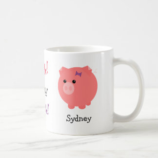 Tasse mignonne personnalisée de porc