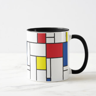 Tasse minimaliste d'art moderne de Mondrian de