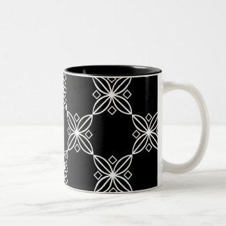 Tasse moderne noire et blanche d'art déco