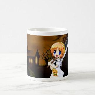 Tasse Morphing de fille d'Anime de Halloween
