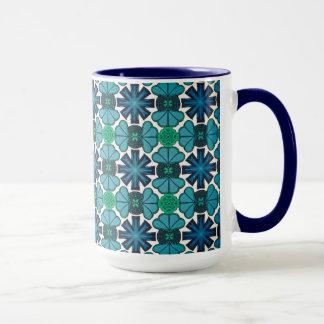 Tasse MUG Jimette Design bleue et blanche