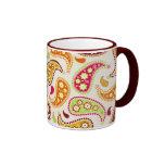 Tasse multicolore de Paisley