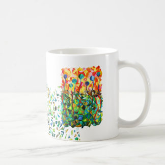 Tasse multicolore mosaïque puzzle