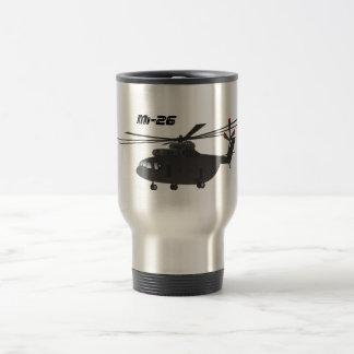 Tasse noire de voyage de l'hélicoptère Mi-26