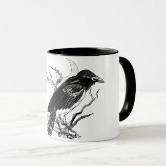 Tasse noire et blanche de Raven