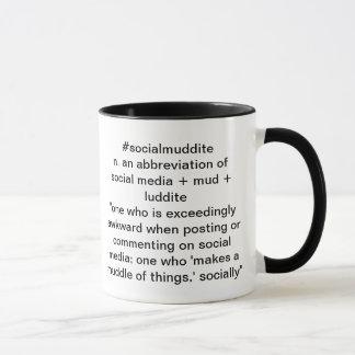 tasse noire et blanche de #socialmuddite