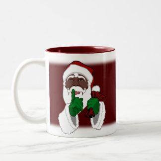 Tasse noire faite sur commande de Père Noël de