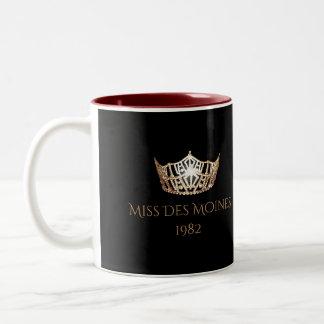Tasse nommée faite sur commande de couronne d'or