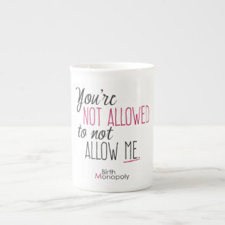 """"""""""" Tasse non permise de porcelaine tendre"""
