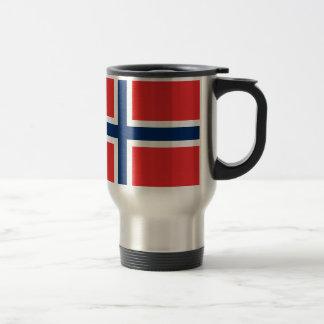 Tasse norvégienne de voyage de drapeau