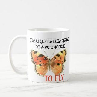 Tasse orange de papillon