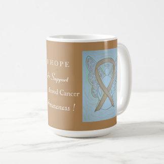 Tasse ou tasse d'ange de ruban de conscience de