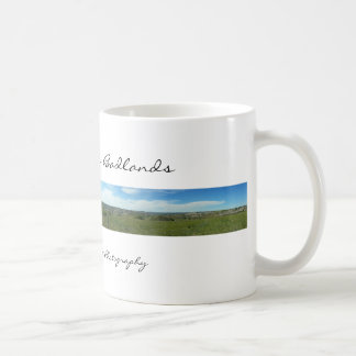 Tasse panoramique de bad-lands du Dakota du Nord