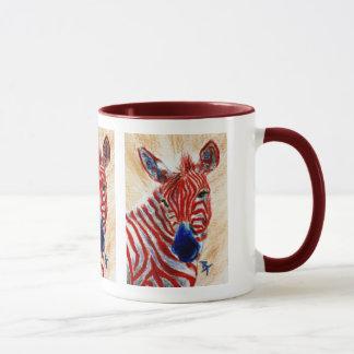 Tasse patriotique de zèbre