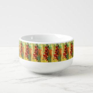 Tasse peinte de soupe à ampoules de cactus