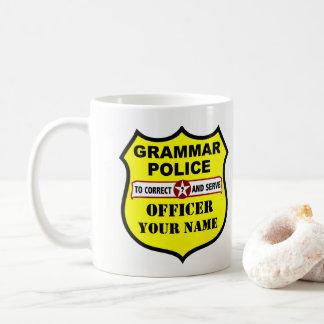 Tasse personnalisable de police de grammaire