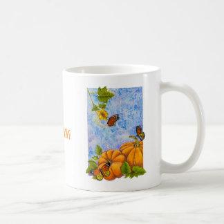 Tasse personnalisée avec les papillons et le