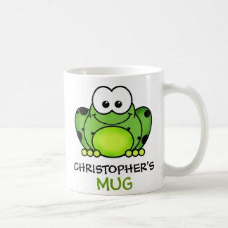 Tasse personnalisée de grenouille mug blanc