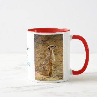 Tasse personnalisée de Meerkat