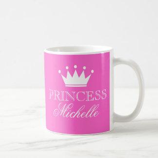 Tasse personnalisée de princesse dans le rose avec
