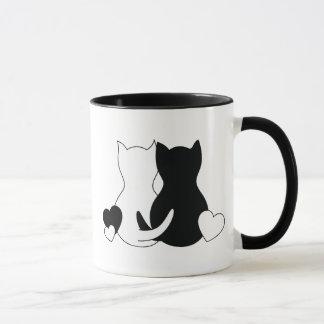 Tasse personnalisée de Valentine, coeur de chatons