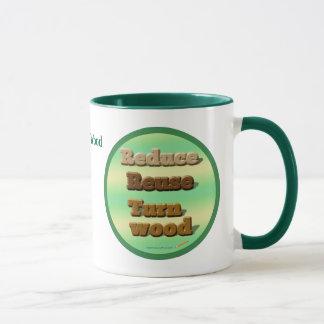 Tasse personnalisée par vert amical de Woodturning