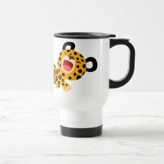 Tasse plaisante de banlieusard de léopard de bande