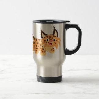 Tasse plaisante mignonne de banlieusard de chat