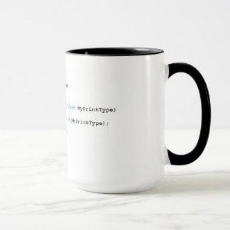 Tasse pointue de thé de programmeurs de C