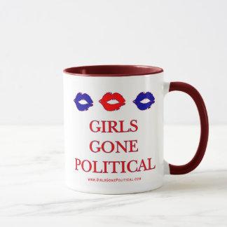 Tasse politique de logo allée par filles