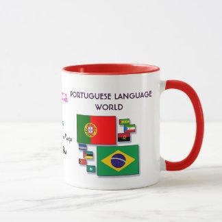 Tasse portugaise du monde de langue
