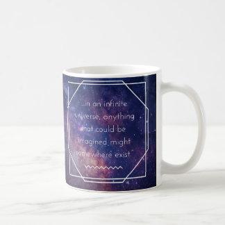 Tasse positive d'affirmation d'univers infini