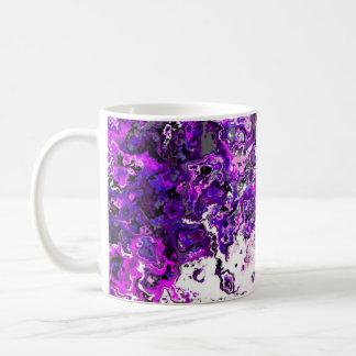 Tasse pourpre florale de concepteur de remous