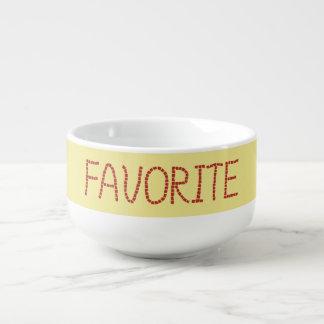 Tasse préférée de soupe