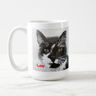 """Tasse principale d'art de chat de """"Lou"""" - colonie"""