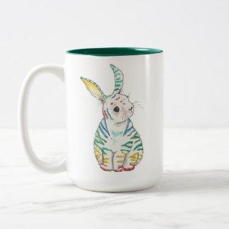 Tasse rayée de lapin