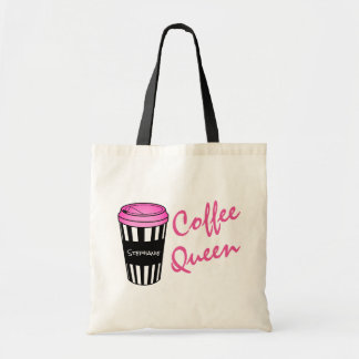 Tasse rayée personnalisée Fourre-tout de la Reine Tote Bag