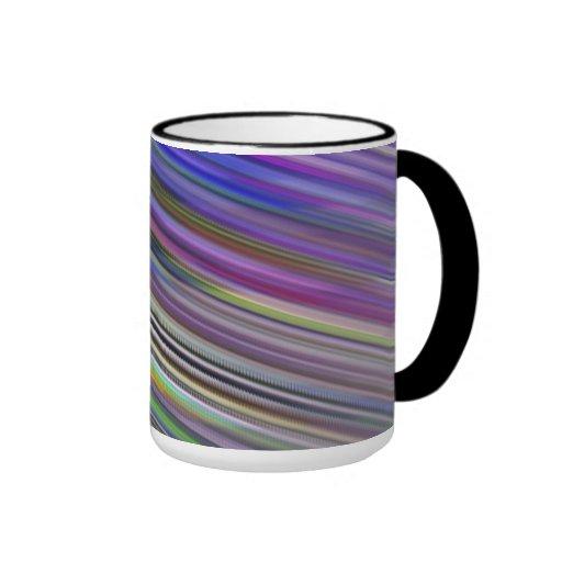 Tasse. Rayures rapides multicolores