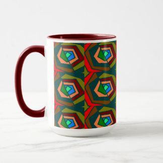 Tasse ronde multicolore de motif