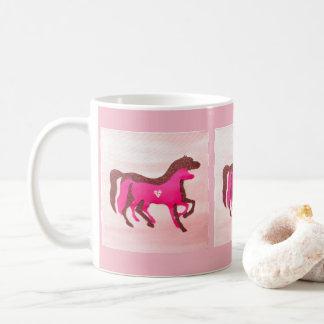 Tasse rose de cheval