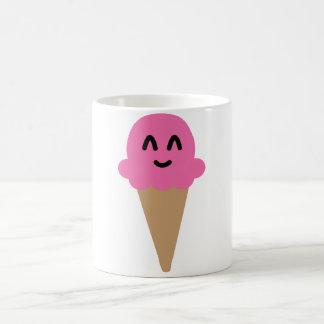 Tasse rose de crème glacée d'Emoji