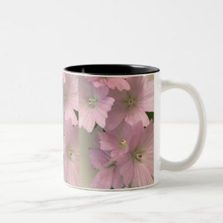 Tasse rose de fleur