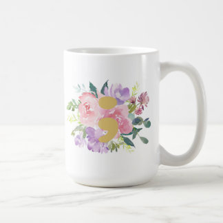 Tasse rose de point-virgule